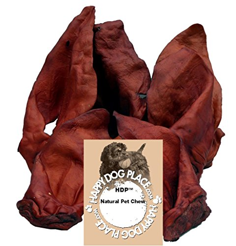 HDP Beef Cow Ears JUMBO Flavor:Smoked Size:Pack of 100