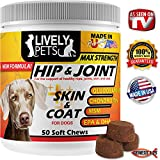 Lively Pets Hip & Joint + Skin & Coat Soft Chews for Dogs 50 ct