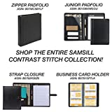 Samsill 71710 Contrast Stitch Leather Padfolio