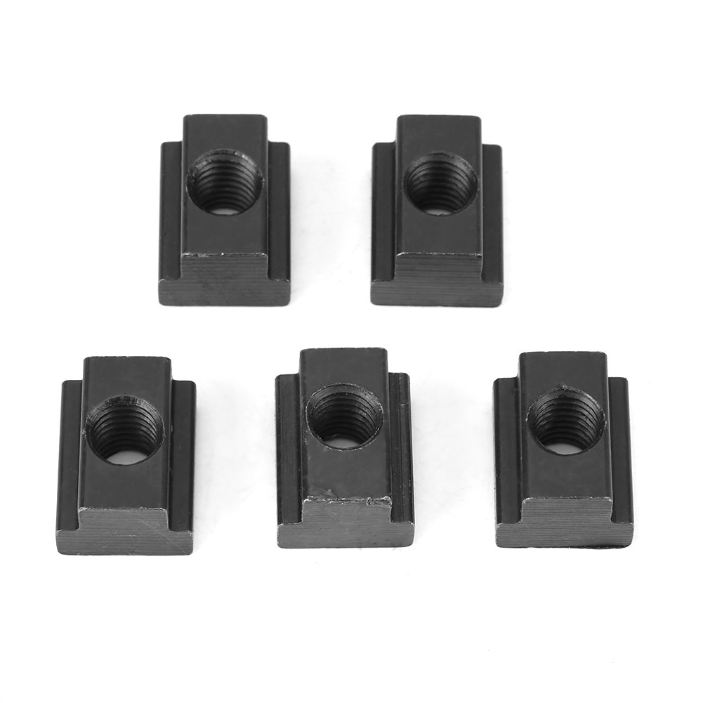 Akozon Black Oxide Finish T Slot Nuts M8 Threads Fit Into T-Slots in Machine Tool Tables Set of 5 pcs(M10) by Akozon