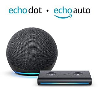 All-new Echo Dot (4th Gen) + Echo Auto | Charcoal