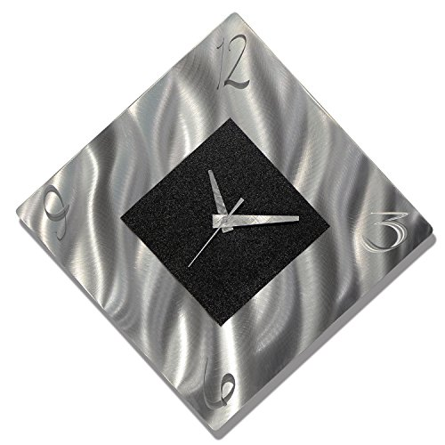 Black Metal Decorative Wall Clock, Abstract Modern