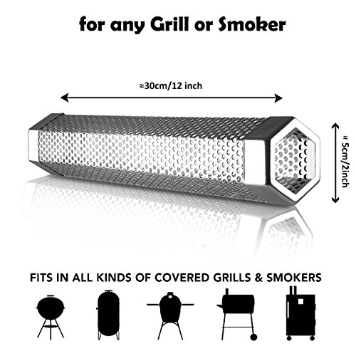 Benbo 12'' Pellet Smoker Tube With Cleaning Brush for Grill Smoker - Cold & Hot smoking by Benbo (Image #1)