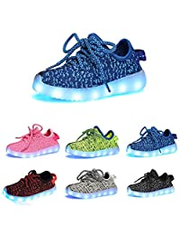 Datelight Boys Girls USB Led Light 7-Color Kids children Unisex Sisters Brothers Casual Fashion Sneakers Breathable Athletic Sports Shoes