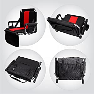 ALPHA CAMP Stadium Seat Chair for Bleachers with Back & Arm Rest by ALPHA CAMP