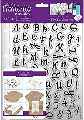 A5 Clear Stamp Set 67pcs - Script Alphabet ()