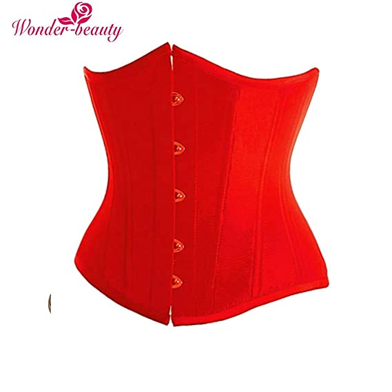 1c169843ab ... Corset Waist Cincher Bustiers Steampunk Top Body Shaper Slimming Belt  Plus Size Lingerie -G5 Color Red Size S  Amazon.in  Clothing   Accessories