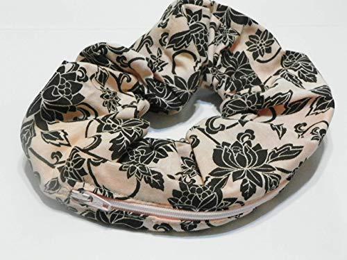 Peach Paisley Flower design Handmade Scrunchie Purse w zipper storage Great for Gym Swim Jog by Yvonnes Alterations & Designs