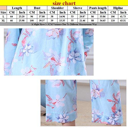Zhhlinyuan Womens Comfortable Printing Sleepwear Unique Design Loose Pyjama Set Pink