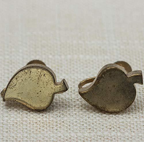 baken Vintage Earrings Clip On Gold Leaf Coro Clipons VTG ()