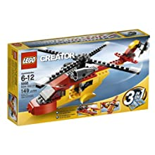 """Lego Creator """"Rotor Rescue"""" 3-In-1 Helicopter/Biplane/Speedboat 149 Piece Set"""
