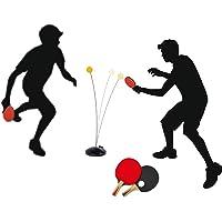 Encoco - Entrenador de tenis de mesa con mango elástico suave para entrenamiento de pelotas de ping pong para jugar en interiores y exteriores