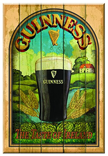 - Guinness 'Taste of Ireland' Wooden Wall Art - Bar Sign Decor