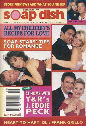 Mark Consuelos, Kelly Ripa, Robin Mattson, Susan Lucci, All My Children, Another World - February, 1997 Soap Dish Magazine [RARE!]