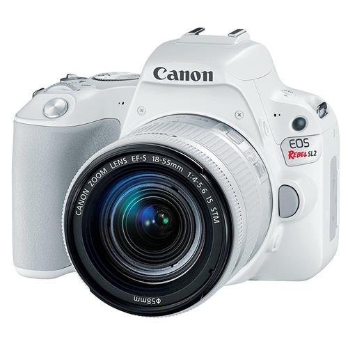 Canon EOS Rebel SL2 DSLR Camera with EF-S 18-55mm STM Lens – WiFi Enabled, White
