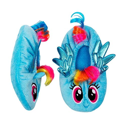 My Little Pony Slippers Kids Girls Rainbow Babba Fuzzy Slipper (M-L Size -