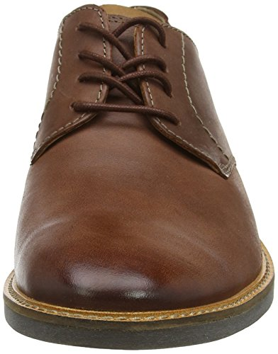 Scarpe Mahogany Uomo Stringate Leather Marrone Lace Clarks Derby Atticus 4q7EFE