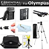 Essential Accessories Kit For Olympus STYLUS XZ-2 iHS XZ-2iHS SH-1 SH-2 TG-5 Digital Camera Includes Extended Replacement LI-90B, LI-92B Battery + Charger + Micro HDMI Cable + Case + Tripod+ More
