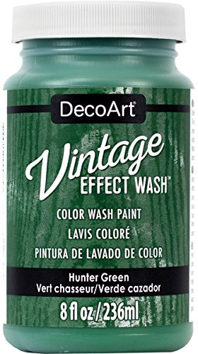 DecoArt Vintage Effect Wash 8oz Hunter, Green