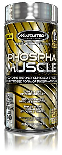MuscleTech Phospha Muscle, Clinically Studied & Fully Dosed Form of Phosphatidic Acid, 140 SoftGels
