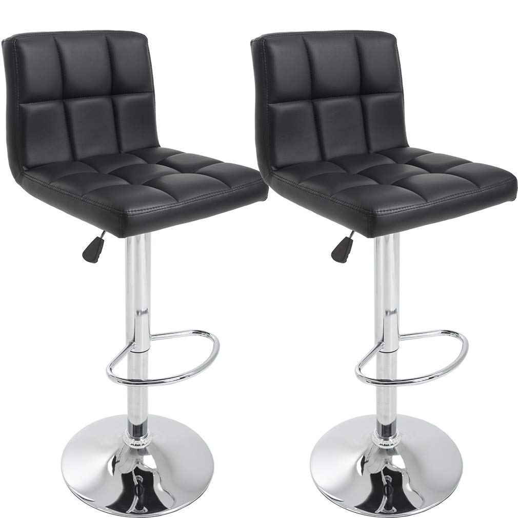 BestMassage Bar Stools Set Counter Height Adjustable Swivel Stools,Set of 2
