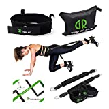 Guard Revival Booty Fitness Band Set - Booty Belt for Glutes Muscle Workout - Perfect Band to Lift Your Butt - Including Waist Belt, Two Resistance Bands, Two Ankle Straps and A Carry Bag. (Black)