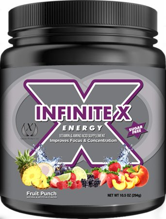 Infinite X Energy Vitamin & Amino Acid Supplement, Sports Energy Drink, Pre Workout, Sports Nutrition Drink, Supports Lasting Energy, Endurance, Mental Clarity, Metabolism, 10.5 Ounce, 42 Servings