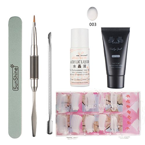 Rosa Nail Gel Tips Extension Camouflage Builder Gel Lack Glue Nail Extension Set ()