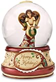 Perfect Paisley Holiday by Pavilion 100mm Musical Waterglobe, Happy Holidays, We Wish You a Merry Christmas