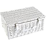 Medium and Large Your Gift Basket 340 mm Length x 210 mm Wide x 110 mm high Grey Willow Hamper Basket Available in Small