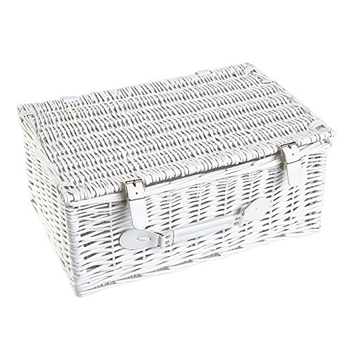 Your Gift Basket - White Willow Hamper Basket Available in Small, Medium and Large (340 mm Length x 210 mm Wide x 110 mm high)