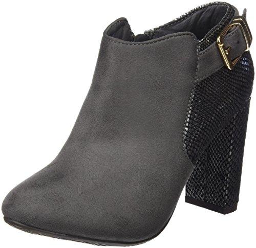 Xti Botin Sra. Antelina Combinada 30295, Zapatos De Tacón, Mujer Gris (Gris)