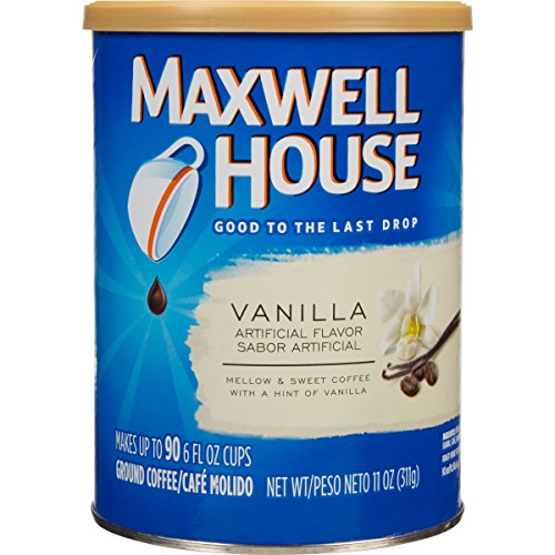 Maxwell House Vanilla Coffee (Maxwell House Vanilla Flavored Ground Coffee, 11 Ounce Canister (Pack of 3))