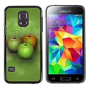 Be Good Phone Accessory // Dura Cáscara cubierta Protectora Caso Carcasa Funda de Protección para Samsung Galaxy S5 Mini, SM-G800, NOT S5 REGULAR! // Three apples