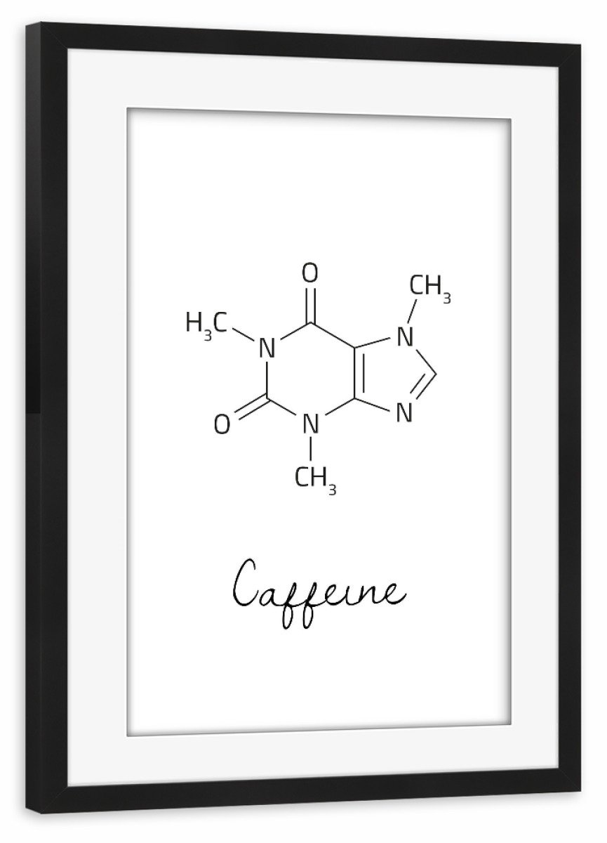 ArtboxONE Poster mit mit mit Rahmen Kupfer 45x30 cm Caffeine Molecular von AB1 Edition - gerahmtes Poster 796f3c