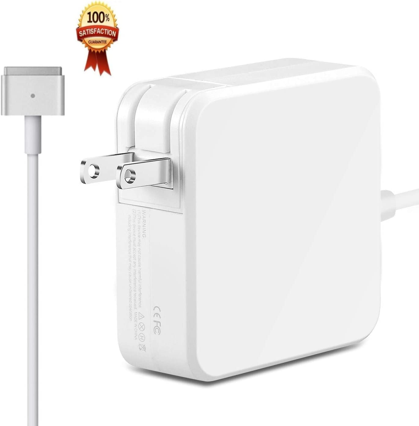 New 60Watt Magnetic (T-Tip) AC Power Adapter Charger Compatible with Macbooks Air, MacBook and MacBook Pro (Late 2012)
