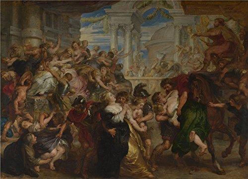 The Perfect Effect Canvas Of Oil Painting 'Peter Paul Rubens The Rape Of The Sabine Women ' ,size: 18 X 25 Inch / 46 X 63 Cm ,this Beautiful Art Decorative Canvas Prints Is Fit For Kitchen Decoration And Home Artwork And Gifts ()