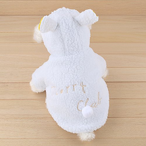 chendongdong Pet Dog Cat Bunny Clothes Warm Clothes Autumn& Winter Puppy Costume Apparel 51wO524za3L
