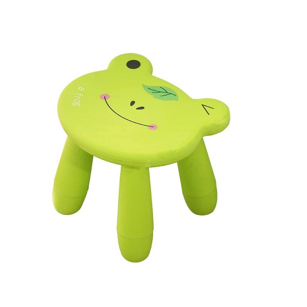 Duzhengzhou Footstool - Children's Stools Living Room Adult Plastic Cartoon Animals Cute Small Bench (Color : Frog) by Duzhengzhou (Image #1)
