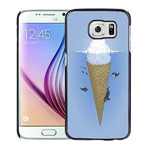 NEW Fashion Custom Designed Cover Case For Samsung Galaxy S6 Ice Cream Black Phone Case