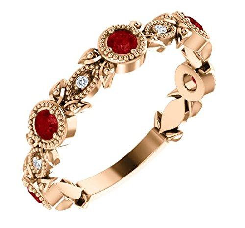 Gold Chatham Ruby Ring - 9