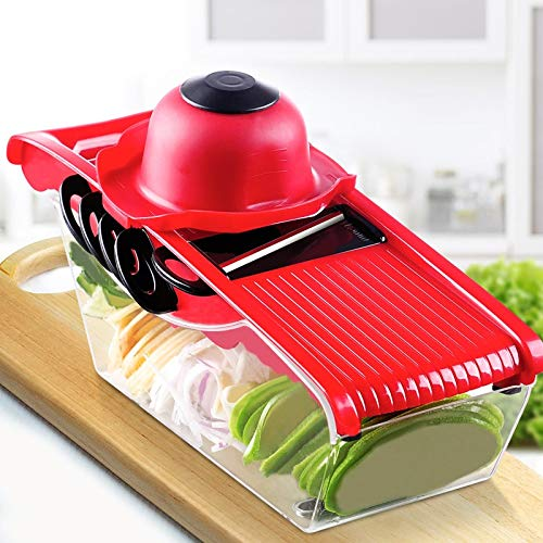Creative Mandoline Slicer Vegetable Cutter - with Stainless Steel Blade - Manual Potato Peeler Carrot Grater Dicer by Gano Zen (Image #3)