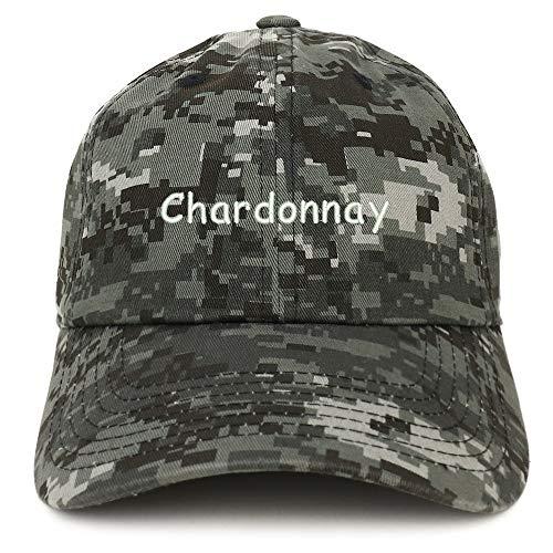 (Trendy Apparel Shop Chardonnay Embroidered 100% Cotton Adjustable Cap Dad Hat - Digital Night CAMO)