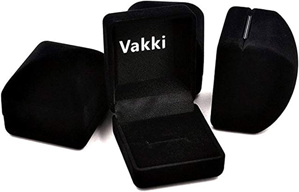 17.2-21.3 VAKKI Bague en Carbure De Tungst/ène /à Finitions Bross/ées Noir Et Argent 8mm Noir Et Argent 54 /à 67