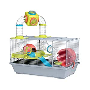 Voltrega Hamster Cage for Small Animals - Grey/Green