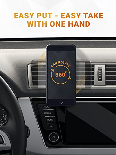 Magnetic Air Vent Car Phone Mount  2019 Updated Version by HUSSELL  for Any Smartphone  Car Phone