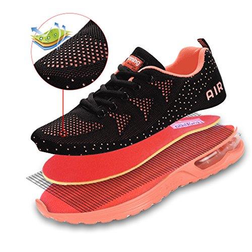 Interior Sneakers Casual Rosa Running Ginnastica Da Nero Gym Shoes Scarpe All'aperto Dexuntong Corsa Uomo Donna Sportive qw84PaB