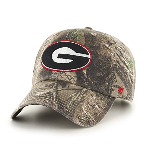 NCAA Georgia Bulldogs '47 Big Buck Clean Up Camo Adjustable Hat, One Size Fits Most, Realtree Camouflage (Georgia Bulldog Hats Fitted Men compare prices)
