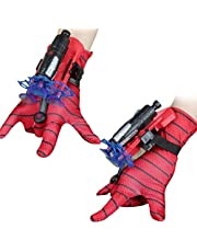 FSDELIV Spiderman Launcher Handschoen, Kids Plastic Cosplay Glove Hero Launcher Pols Toy Set, Grappige Kinderen Educatief Speelgoed Super Spiderman, Marvel Hero Fans, Kostuum Props