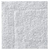 Regence Home Reversible Cotton Bath Rug, 17 by 23-Inch, White